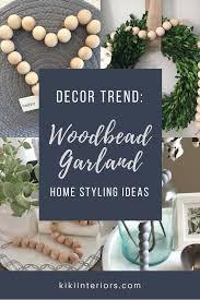 Christmas Tree Bead Garland Ideas by Wood Bead Garland A Decor Trend We Love Interiorsbykiki Com