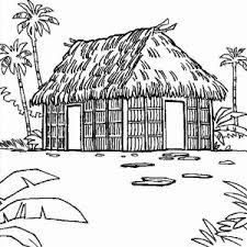 Traditional Houses Coloring Page
