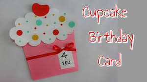 DIY Cupcake Card Birthday For Kids Simple And Easy Making