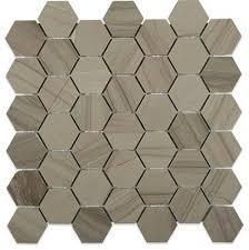 soho studio athens gray 2 hexagon contemporary mosaic tile