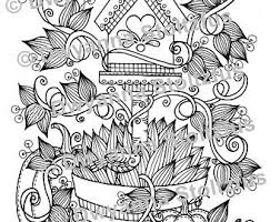 Birdhouse Planter Coloring Page 2 JPG