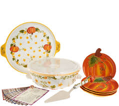 Joans Pumpkin Patch by Temp Tations Figural Pumpkin Patch Bake U0026 Serve Set With Recipes