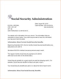Unique Award Letter for social Security