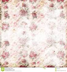 Antique Pink And Red Shabby Chic Rose Repeat Pattern Wallpaper Faded