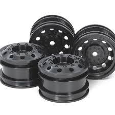 100 Rc Truck Wheels On Road Racing Black FR 2Pcs Each Tamiya USA
