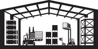 Industrial Warehouse Scene Vector Illustration Royalty Free Stock Photo