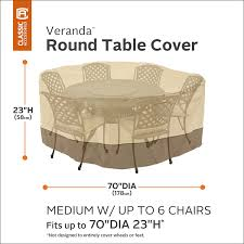 Ebay Patio Table Cover by Amazon Com Classic Accessories Veranda Patio Table U0026 Chair Set