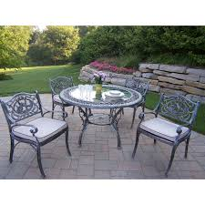Cast Aluminum Outdoor Sets by Oakland Living Mississippi Cast Aluminum 48 In Glass Top