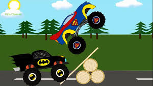 100 Monster Truck Batman Superman Vs Trucks For Kids Kids