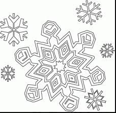 Impressive Snowflake Color Pages Printable Coloring For Kids With And