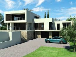 univers maison de ville moderne toit plat