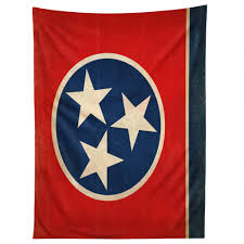 Rustic Tennessee State Flag Tapestry Anderson Design Group