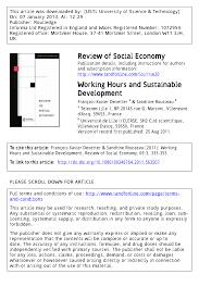 si e social villeneuve d ascq working hours and sustainable development pdf available