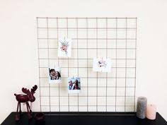 Rose Gold Copper Wire Wall Grid Mesh Memo Board Notice Metal Noticeboard Kitchen