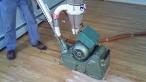 Clarke Floor Sander Edger Super 7r by How To Sand A Hardwood Floor Dustless Refinishing Youtube