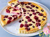kleckselkuchen mit pudding kirschen rezept lecker