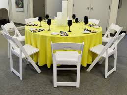 Ez Hang Chairs Fletcher Nc by White Resin Folding Chair Bright Yellow Table Linen Bamboo