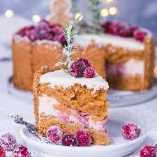 leichte spekulatius creme torte mit kirschen