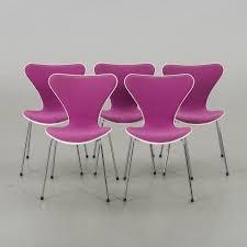 100 Fritz 5 ARNE JACOBSEN Chairs Series 7 For Hansen 199 Bukowskis