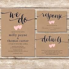 Wedding Invitations With Real Burlap Diy Rustic Invitation Printable Kraft