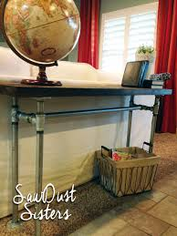 Narrow Sofa Table Diy by Easy Diy Sofa Table With Pipe Frame Sofa Tables Pipes And Consoles