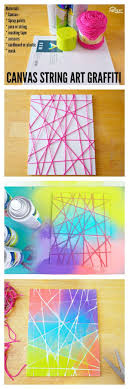 This Canvas String Art Graffiti Project Is Fun For Kids And Adults Alike While
