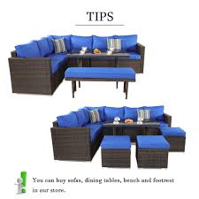 Patio Furniture 3pcs Sofa Set Brown Wicker Royal Blue Cushion [7078 ... Pillow Perfect Ggoire Prima Blue Chaise Lounge Cushion 80x23x3 Outdoor Statra Bamboo Adjustable Sun Chair Royal With Design Yellow Carpet Wning And Walls Rug Brown Grey Gray Paint Shop For Outime Patio Black Woven Rattan St Kitts Set Wicker Bright Lime Green Cushions Solid Wood Fntiure Best Rattan Garden Fniture And Where To Buy It The Telegraph Garden Backrest Cushioned Pool Chairroyal Salem 5piece Sofa Fniture Sectional Loveseatroyal Cushions2 Piece Sunnydaze Bita At Lowescom