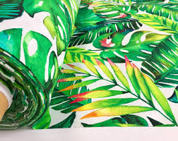 Material For Curtains And Upholstery by Palm Leaf Fabric Etsy