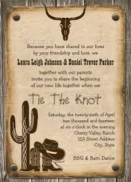 Rustic Wooden Western Style Wedding Invitation