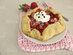 strawberry galette with and cocoa nibs stock photo image now