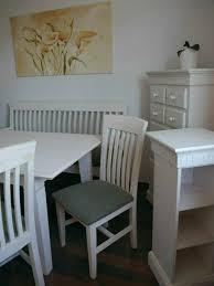 esszimmer set tisch stühle sitzbank weiß grün np 2 500 zugabe