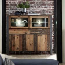details zu highboard wohnzimmer kommode schrank used style matera metall cardiff