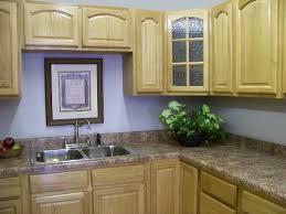 light blue kitchen paint color with oak cabinets paint colors