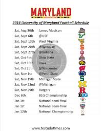 Umd Help Desk by Printable Maryland Football Schedule 2014 Testudo Times
