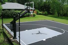 Basketball Court - Neave Sports Amazing Ideas Outdoor Basketball Court Cost Best 1000 Images About Interior Exciting Backyard Courts And Home Sport X Waiting For The Kids To Get Gyms Inexpensive Sketball Court Flooring Backyards Appealing 141 Building A Design Lover 8 Best Back Yard Ideas Images On Pinterest Sports Dimeions And Of House