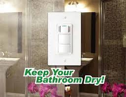 Humidity Sensing Bathroom Fan Wall Mount by Dewstop Fs 100 Condensation Control Sentry Fan Switch White