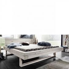 balkenbett be 0280 ca 180x200 fichte massiv weiß bettgestell schlafzimmer