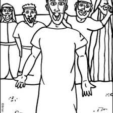 Coloring Pages For Bible Stories Jesus Heals The Paralytic Man Flip Chart