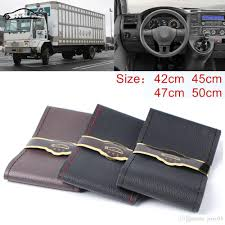 100 Truck Dash Covers Extra Large Steering Wheel Cover For RV Micro Fiber Leather