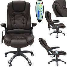 Massage Chair Amazon Uk by Office Deluxe Reclining Comfort Luxury Leather Executive 6 Point
