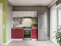 küche weiß rot hochglanz küchenzeile küchenblock