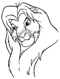 The Great Mufasa Lion King Coloring Page