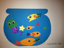 Fish Tankcut And Glue With Paper Google Eyes Stickers