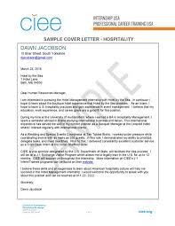 Cover Letter For Front Desk Coordinator by Sample Cover Letter For Hospitality Industry Hospitality Staff