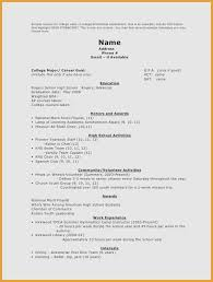 Resume Sample High School Student Best Of Examples