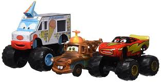 Amazon.com: Disney Toon Cars Monster Truck Mater 3-Pack: Toys & Games