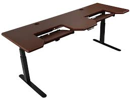 Kangaroo Standing Desk Dual Monitor by Table Archaiccomely Desk V000a Discontinuedvivo Height Adjustable