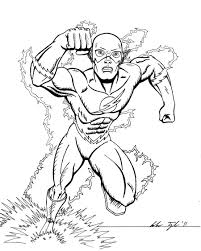The Flash Coloring Page New