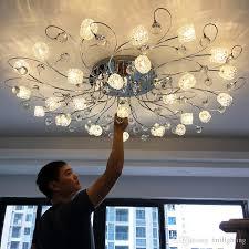 großhandel moderne einfache kreisförmige led kristall deckenleuchte europäischen stil led le wohnzimmer schlafzimmer kristallbeleuchtung