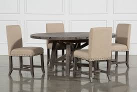 Jaxon Grey 5 Piece Round Extension Dining Set W/Upholstered Chairs ... Trisha Yearwood Home Music City Hello Im Gone Ding Room Table Grey Griffin Cutback Upholstered Chair Along With Dark Wood Amazoncom Formal Luxurious 5pc Set Antique Silver Finish Tribeca Round And 2 Upholstered Side Chairs American Haddie Light Tone 4 Value Hooker Fniture Corsica Rectangle Pedestal Matisse With W Ladder Back By Paula Deen Vienna Merlot Kayla New